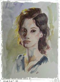 watercolorwomanframe